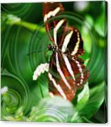 Butterfly Overlay Canvas Print
