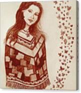 Butterfly Princess Canvas Print