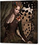 Butterfly Princess Of The Forest 2 Canvas Print
