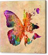 Butterfly World Map  Canvas Print