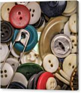 Buttons And Buttons Canvas Print