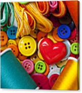 Buttons And Thread Canvas Print