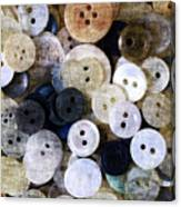 Buttons In Grunge Style Canvas Print