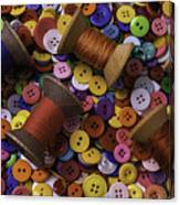 Buttons With Thread Canvas Print