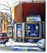 Buy Original Montreal Paintings Beauty's Winter Scenes For Sale Achetez Petits Formats Tableaux  Canvas Print