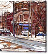 Buy Original Paintings Montreal Petits Formats A Vendre Scenes De Pointe St Charles Cspandau Artist Canvas Print