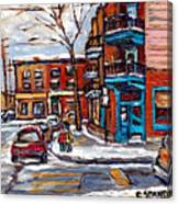 Buy Original Wilensky Montreal Paintings For Sale Achetez Petits Formats Scenes De Rue Street Scenes Canvas Print