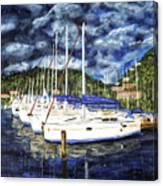 Bvi Sailboats Painting Canvas Print