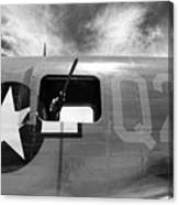 Bw Aircraft Gunner Window Canvas Print
