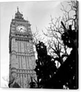 Bw Big Ben London 2 Canvas Print