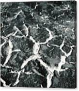 Bw Crackle Canvas Print