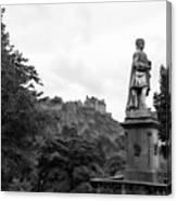 Bw Edinburgh Scotland  Canvas Print