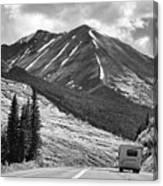 Bw Mobile Home Travel Alaska  Canvas Print