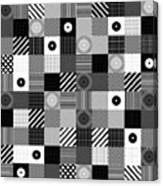 Bw Pop Pattern Canvas Print
