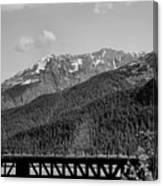Bw Rail Alaska  Canvas Print