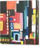Bway At 46th Canvas Print