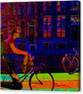 By Bicycle Amsterdam Canvas Print