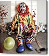 By Blood A King In Heart A Clown Canvas Print