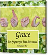 By Grace Canvas Print