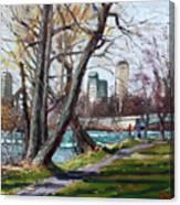 By Niagara River Canvas Print