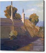 By The La River Canvas Print