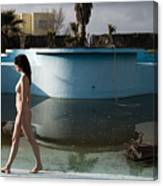 By The Old Pool Canvas Print