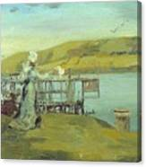 By The Sea Swanage Canvas Print