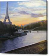 By The Seine Canvas Print
