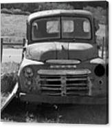 Bygone Dodge In Black And White Canvas Print