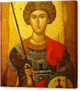 Byzantine Knight Canvas Print