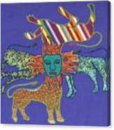 Byzantine Lion Canvas Print