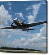 C-47 Dakota Low Pass Over Jekyll Island Airport. 2015 Canvas Print
