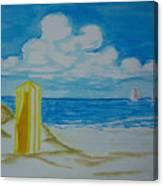 Cabana On The Beach Canvas Print
