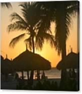 Cabana Sunset Canvas Print