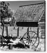 Cabin And Wagon Canvas Print