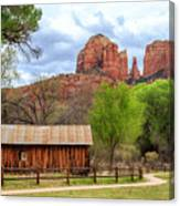 Cabin At Cathedral Rock Canvas Print