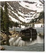 Cabin At Chinns Lake Canvas Print