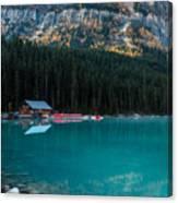 Cabin At The Lake, Canvas Print