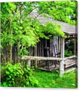 Cabin At The Top Mt Leconte Canvas Print