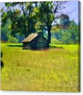 Cabin At Valley Forge Canvas Print