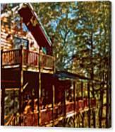 Cabin Cutout Canvas Print