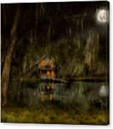 Cabin - De Land, Fl - Restless Night 1904 Canvas Print