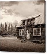 Cabin In Kenai Canvas Print