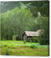 Cabin In The Aspens  Canvas Print