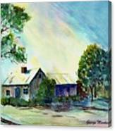 Cabin In The Evening Canvas Print