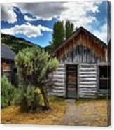 Cabin In The Sagebrush Canvas Print
