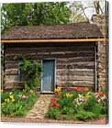 Cabin In The Tulip Patch Canvas Print