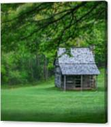 Cabin On The Blue Ridge Parkway - 1 Canvas Print