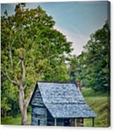 Cabin On The Blue Ridge Parkway - 10 Canvas Print