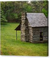 Cabin On The Blue Ridge Parkway - 4 Canvas Print